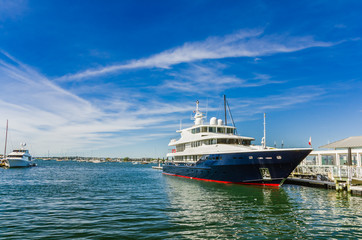Luxury Yacht Mooered in Harbour
