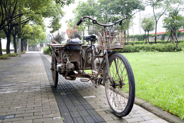 rusty Chinese tricycle