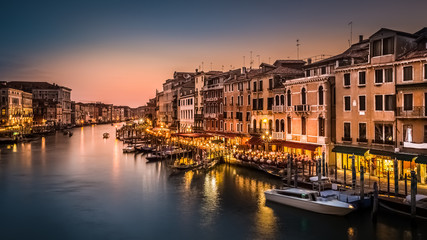 Fototapete - Grand Canal viewed from Rialto bridge, Venice, Italy