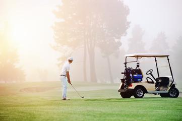 Aluminium Prints Golf golf approach shot