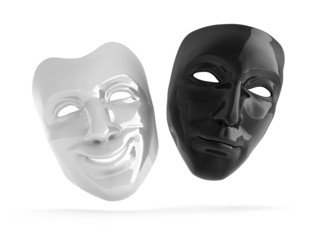 Schwarze und weiße Theatermaske
