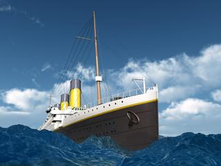 Ocean Liner in the stormy ocean