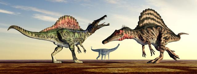 The Dinosaurs Spinosaurus and Puertasaurus