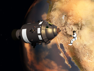 Spaziergang im Weltraum