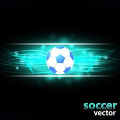 Soccer, football background - vector