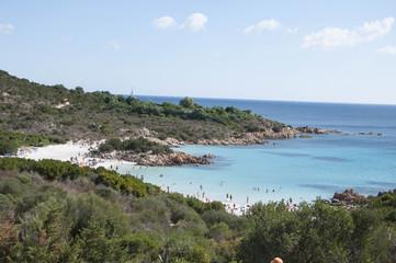 sardegna panorama della spiaggia del principe