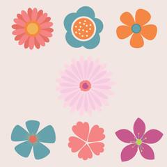 Pastel flower vector