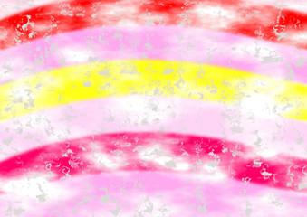 Farbenfroher Hintergrund in pink und gelb