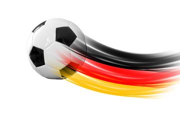Fußball mit Deutschlandspur