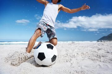 soccer skill beach