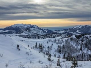 Tramonto sulle alpi