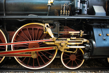 Old Steam train, wheels