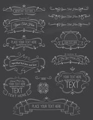 Vintage Calligraphy ChalkBoard Elements Seven