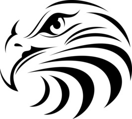 Eagle Face Silhouette