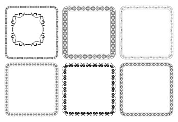 vector set - square decorative frames