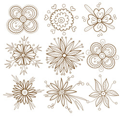 set of flowers (Coloring Book)