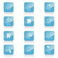 Teeth vector icons set