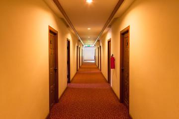 a snug corridor in the hotel