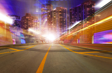 Abstract background illustration of fast traffic motion
