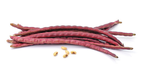 red beans on the white background