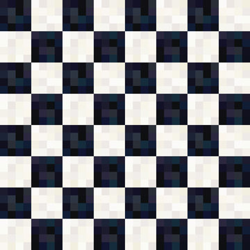 seamless black and white square pattern