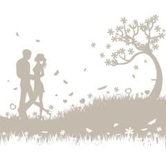 romantischer Hintergrund