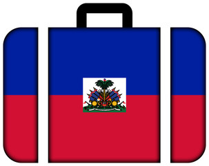 Suitcase with Haiti Flag