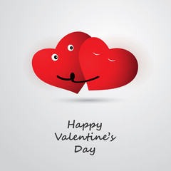 Valentines Day Card Design - Template Illustration