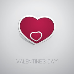 Valentine's Day Card Design - Template Illustration