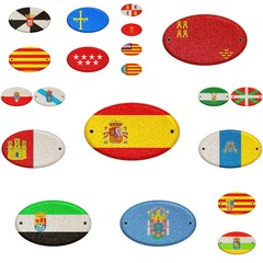 Wooden sign of Spain.