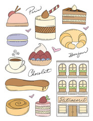 French Bakery Doodles