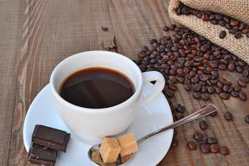 Foto op Plexiglas Chocolade Coffee, chocolate, brown sugar