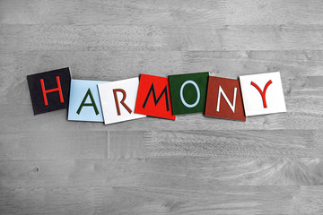 Wall Mural - Harmony, sign series for music, singing, choir and bands