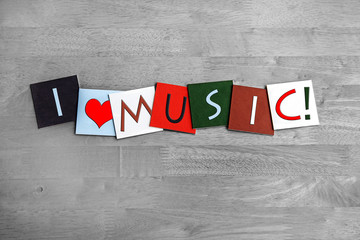 Wall Mural - Music, sign series for music, singing, concerts and bands