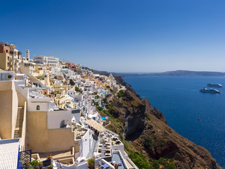 Colorful buildings of Santorini, Greece