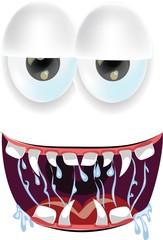Мультфильм монстры лицо