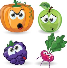 Мультфильм овощи и фрукты