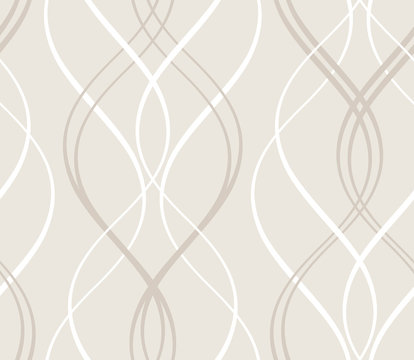 Abstract seamless geometric pattern with wavy lines