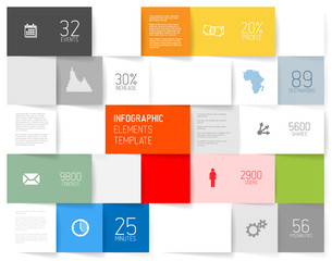 Vector squares background illustration / infographic template