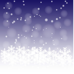 Snow on the dark blue background.vector