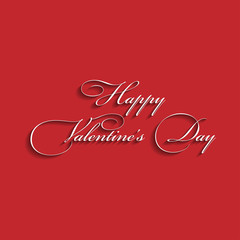 Text design of happy valentine's day. Red.vector