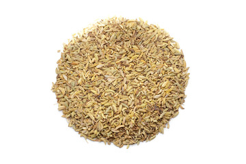 Pile of cumin seeds