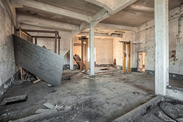 Abandoned room of an old factory