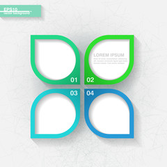 Infographic template with four blue and green labels. Eps10