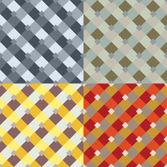 Abstract seamless patterns vector set