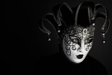 Wall Mural - portrait with Venice mask