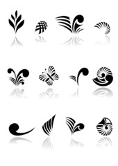 Maori Koru Design Elements Icon Set