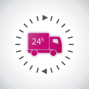 Livraison 24H - Illustration vectorielle