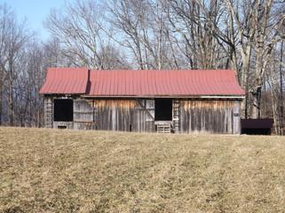 Sunny winter barn