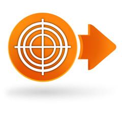 Fototapete - diagnostic sur symbole web orange